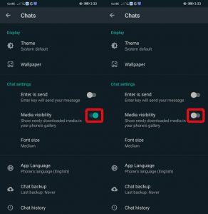 Stop WhatsApp Media From Saving To Camera Roll On Android