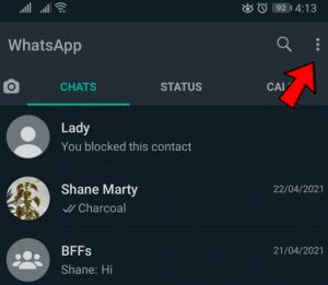 three dots whatsapp
